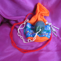 Jade Egg with Swinging Bag